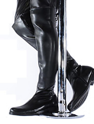 cheap -Men's Fashion Boots Synthetics Fall / Winter British Boots Knee High Boots Black / Party & Evening / Party & Evening