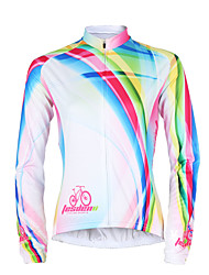 cheap -TASDAN Women's Long Sleeve Cycling Jersey Stripes Plus Size Bike Jersey Top Mountain Bike MTB Road Bike Cycling Breathable Quick Dry Ultraviolet Resistant Sports Winter 100% Polyester Clothing Apparel