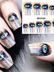 cheap -Fashion Printing Pattern Water Transfer Printing Abstract Eye Nail Stickers