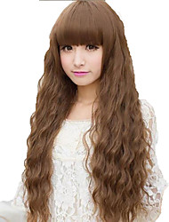 cheap -shocking new ultra low cost european and american fashion hot long hair fluffy wig corn