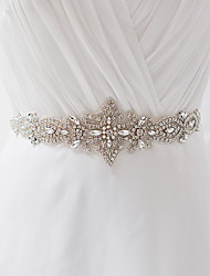 cheap -Satin Wedding / Party / Evening / Dailywear Sash With Rhinestone / Crystal / Pearl Women's Sashes / Beading / Appliques