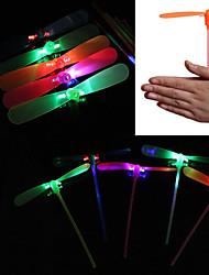 cheap -LED Lighting Bamboo Copter Dragonfly Lighting Plastic Adults' Toy Gift