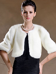 cheap -Shrugs Faux Fur Wedding / Party Evening Women's Wrap With Feathers / Fur