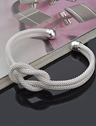 cheap -Women's Bracelet Bangles Cuff Bracelet Love knot Twisted Knot Ladies Punk Inspirational Italian Sterling Silver Bracelet Jewelry Silver For Christmas Gifts Wedding Party Daily Casual Sports