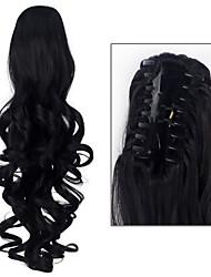 Недорогие -Накладка на микрокольце Конские хвостики Искусственные волосы Волосы Наращивание волос Кудрявый