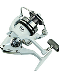 cheap -Spinning Reel 5.1/1 Gear Ratio+10 Ball Bearings Hand Orientation Exchangable Spinning / Lure Fishing - JK1000-5000