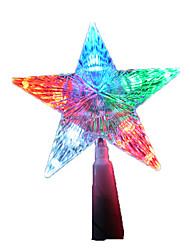 Недорогие -1pc водить случайный цвет Рождественский подарок украшение интерьера пятиконечная звезда ночной свет