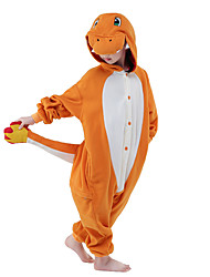 cheap -Kid's Kigurumi Pajamas Dragon Animal Onesie Pajamas Velvet Mink Orange Cosplay For Boys and Girls Animal Sleepwear Cartoon Festival / Holiday Costumes