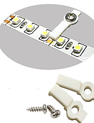 cheap -LED 100 Lots Strip Light Mounting Bracket Fixing Clip-One Side Fixing,Screws included (100, Hollow Distance 9mm (Ideal for strip width 8mm))