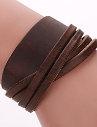 cheap -Men's Women's Wrap Bracelet Leather Bracelet Bohemian Fashion Leather Bracelet Jewelry Black / Coffee For Christmas Gifts Party Daily Casual