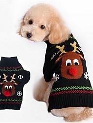 cheap -Dog Sweater Winter Dog Clothes Black Red Costume Cotton Keep Warm XXS XS S M L XL