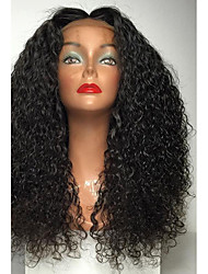 cheap -Synthetic Lace Front Wig Curly Curly Lace Front Wig Long Light Brown Medium Brown Jet Black Dark Brown Natural Black Synthetic Hair Women's Natural Hairline Middle Part Black