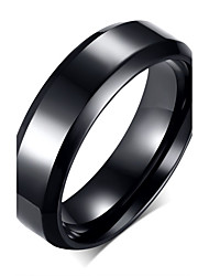 cheap -Men's Band Ring Black Stainless Steel Titanium Steel Fashion Party Daily Jewelry / Casual