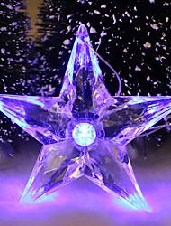 Недорогие -5pc привел случайный цвет Рождественский подарок украшение интерьера пятиконечная звезда ночной свет