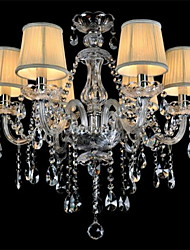 cheap -LWD 6-Light Chandelier Ambient Light Others Glass Fabric Crystal, Mini Style 110-120V / 220-240V Bulb Not Included / E12 / E14