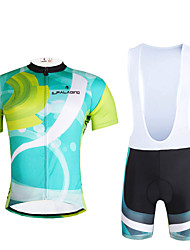 cheap -ILPALADINO Men's Short Sleeve Cycling Jersey with Bib Shorts Lycra Polyester Bike Clothing Suit Breathable 3D Pad Quick Dry Ultraviolet Resistant Reflective Strips Sports Fashion Mountain Bike MTB