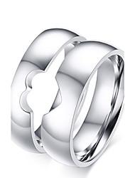 Недорогие -Для пары Кольца для пар Кольцо титан Титановая сталь Дамы Простой кисточка Свадьба Для вечеринок Бижутерия отношения