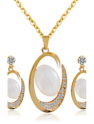 cheap -Women's Bridal Jewelry Sets Earrings Jewelry Gold For Wedding Party / Necklace