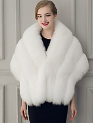 cheap -Sleeveless Capelets Faux Fur Wedding / Party Evening Women's Wrap With Feathers / Fur