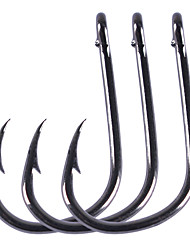 cheap -100 pcs Aberdeen Hook Fishing Hooks Needle / Thin Hang-Nail / Curved Point Sea Fishing / Freshwater Fishing / General Fishing Carbon Steel Easy to Use