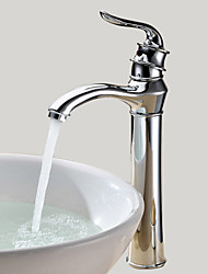 cheap -Bathroom Sink Faucet - Rotatable Chrome Vessel One Hole / Single Handle One HoleBath Taps