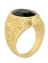 cheap -Men's Statement Ring Agate Black Agate Alloy Statement Vintage Fashion Party Daily Jewelry / Casual
