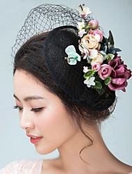 cheap -Flax / Satin Fascinators / Hats / Headwear with Floral 1pc Wedding / Special Occasion Headpiece