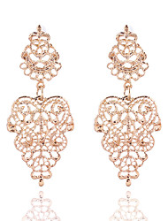 cheap -Women's Girls' Flower Ladies Vintage Fashion Gold Plated Earrings Jewelry Gold / Silver For Wedding Party Casual Masquerade Engagement Party Prom / Multi-stone