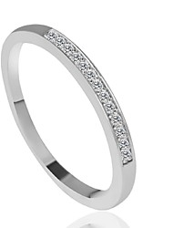 cheap -Band Ring Silver Alloy Fashion 6 7 8 9 / Women's / Wedding / Party / Daily / Casual