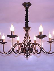 cheap -8-Light 77CM Candle Style Chandelier Metal Others Retro 110-120V / 220-240V