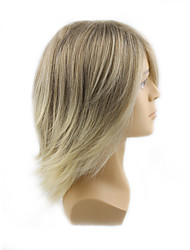 cheap -Synthetic Wig Wavy Wavy With Bangs Wig Blonde Medium Length Blonde Synthetic Hair Men's Blonde