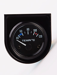 """cheap -2"""" 52mm 12V Universal Car Pointer Water Temperature Temp Gauge 40-120 White LED"""