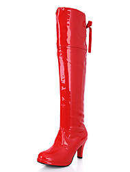 cheap -Women's Boots Spring / Fall / Winter Heels / Fashion Boots / Round Toe Leatherette Outdoor /Casual Stiletto