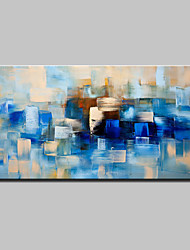 cheap -Oil Painting Hand Painted - Abstract Modern With Stretched Frame / Stretched Canvas