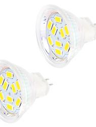 cheap -2 W LED Bi-pin Lights 200 lm GU4 MR11 9 LED Beads SMD 5730 Decorative Warm White Cold White 12 V / 2 pcs / RoHS