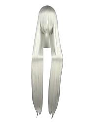 cheap -Cosplay Wigs Trinity Seven Switzerland Vash Zwingli Silver Extra Long / Straight Anime Cosplay Wigs 120 CM Heat Resistant FiberMale /