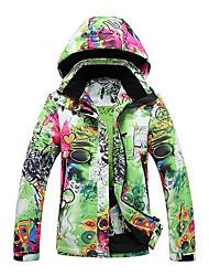 cheap -GQY® Women's Ski Jacket Ski / Snowboard Winter Sports Thermal / Warm Windproof Wearable Polyester Winter Jacket Ski Wear