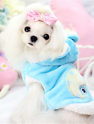 cheap -Dog Hoodie Dog Clothes Solid Colored Animal Yellow Blue Pink Cotton Costume For Spring &  Fall Winter Men's Women's Casual / Daily