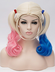 cheap -Synthetic Wig Cosplay Wig Wig Blonde Blonde Synthetic Hair Women's Blonde