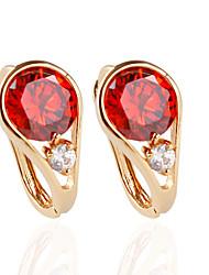 cheap -Women's Stud Earrings Fashion Earrings Jewelry Red / Blue / Pink For Wedding