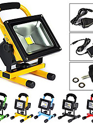 cheap -ZDM 1PC 10W Rechargeable LED Portable Work Flood Light,  IP65 Waterproof Security Emergency Lights for Outdoor Camping Fishing Walking the dog with Adapter and Car Charger