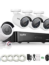 Недорогие -sannce® 4ch hd 1.3 mp 960p nvr poe безопасность ip камера комплект система домашняя сеть наружная