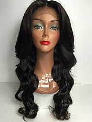 cheap -Synthetic Lace Front Wig Body Wave Body Wave Middle Part Lace Front Wig Long Light Brown Medium Brown Jet Black Dark Brown Natural Black Synthetic Hair Women's Heat Resistant Natural Hairline African