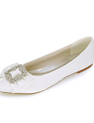 cheap -Women's Flats Flat Heel Pointed Toe Rhinestone Satin Ballerina Spring / Summer White / Purple / Champagne / Wedding / Party & Evening