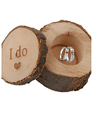 cheap -Round Square Cylinder Wood Favor Holder with Printing Favor Boxes Gift Boxes - 1