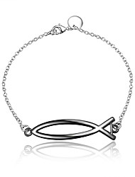 cheap -Women's Chain Bracelet Flower Vintage Fashion Sterling Silver Bracelet Jewelry Silver / Black For Wedding Party Daily Casual