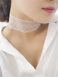 cheap -Women's Choker Necklace Vintage Fashion Lace White Black Necklace Jewelry For Party Daily Casual
