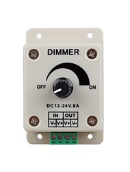 cheap -1PC DC12-24V 8Amp 0%-100% Monochrome Dimming Controller for For LED Lights or Ribbon