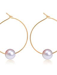 cheap -Women's Stud Earrings Hoop Earrings Ladies Fashion Pearl Earrings Jewelry Gold / Silver For Wedding Party Daily Casual Work