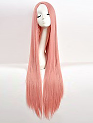 cheap -Synthetic Wig Cosplay Wig Straight kinky Straight kinky straight Straight Wig Pink Pink Synthetic Hair Women's Pink